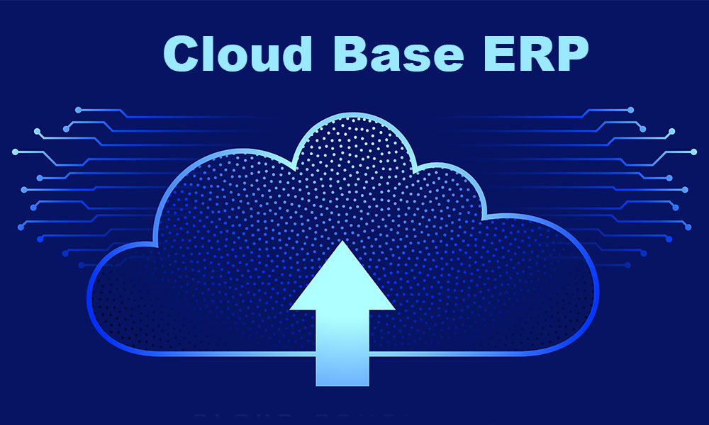 cloud computing background with upload arrow symbol